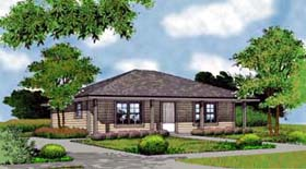Country , Farmhouse , Traditional House Plan 63164 with 2 Beds, 1 Baths Elevation