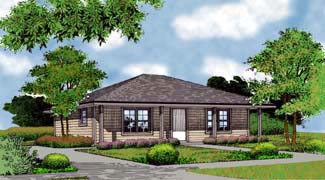 Country Farmhouse Traditional House Plan 63164 Elevation