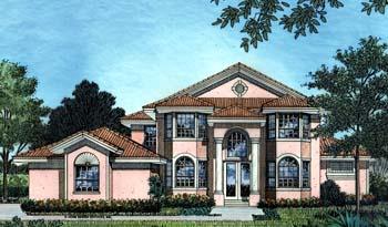 Mediterranean House Plan 63169 with 4 Beds, 4 Baths, 3 Car Garage Elevation