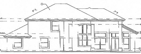 Mediterranean House Plan 63174 with 4 Beds, 3 Baths, 3 Car Garage Rear Elevation