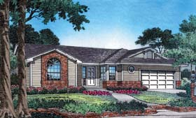 Plan Number 63180 - 1300 Square Feet