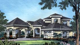 Mediterranean House Plan 63181 with 3 Beds, 3 Baths, 2 Car Garage Elevation