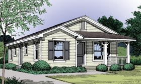 Country , Traditional House Plan 63205 with 3 Beds, 1 Baths Elevation