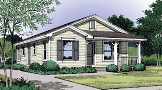 Country, Traditional House Plan 63205 with 3 Beds, 1 Baths Elevation