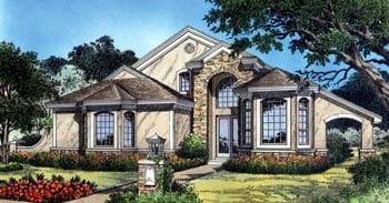 Contemporary , Florida , Mediterranean House Plan 63252 with 3 Beds, 3 Baths, 2 Car Garage Elevation
