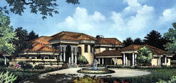 Southwest House Plan 63268 with 4 Beds, 5 Baths, 3 Car Garage Elevation