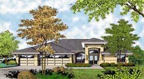 Mediterranean , Florida , Contemporary House Plan 63285 with 4 Beds, 3 Baths, 3 Car Garage Elevation