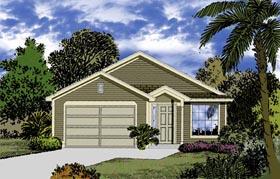 Mediterranean House Plan 63293 with 3 Beds, 2 Baths, 2 Car Garage Elevation