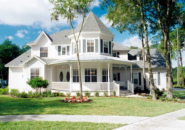 Cottage Southern Traditional Victorian House Plan 63340