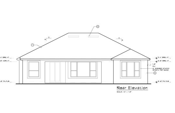 European Mediterranean Ranch Tuscan House Plan 63341 Rear Elevation