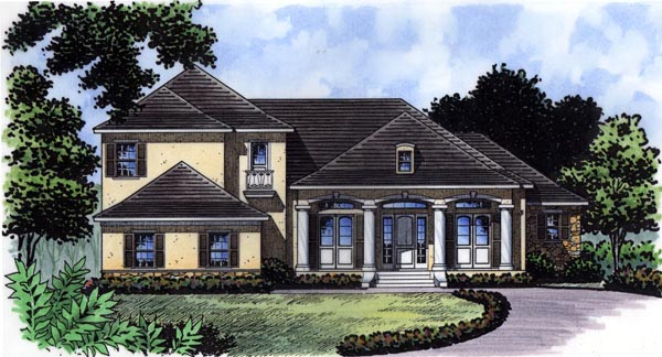 Florida , Mediterranean , Traditional House Plan 63359 with 4 Beds, 5 Baths, 3 Car Garage Elevation