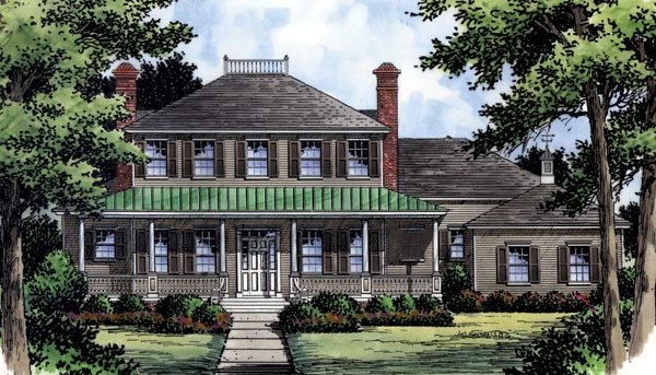 Colonial , Southern , Traditional House Plan 63360 with 4 Beds, 5 Baths, 3 Car Garage Elevation