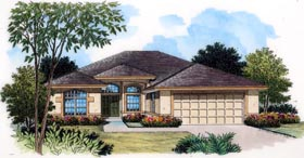 Contemporary European Mediterranean Southern Tuscan House Plan 63375 Elevation