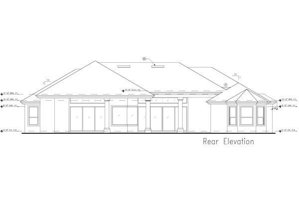 European Mediterranean Tuscan House Plan 63380 Rear Elevation