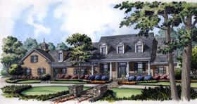 House Plan 63381 | Country Traditional Style Plan with 3829 Sq Ft, 4 Bedrooms, 4 Bathrooms, 3 Car Garage Elevation