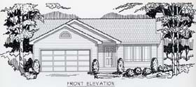 Ranch , Traditional House Plan 63500 with 2 Beds, 1 Baths, 2 Car Garage Elevation