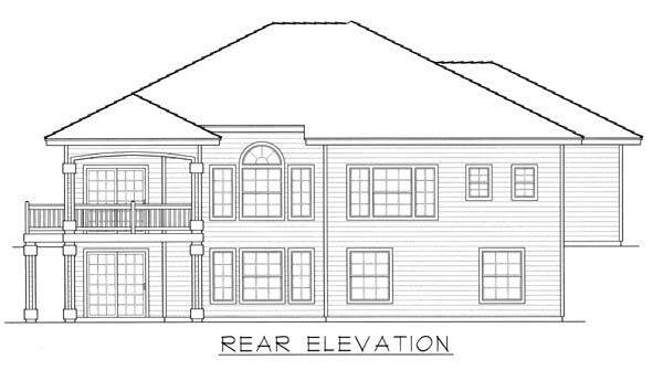 Contemporary Mediterranean Ranch House Plan 63514 Rear Elevation