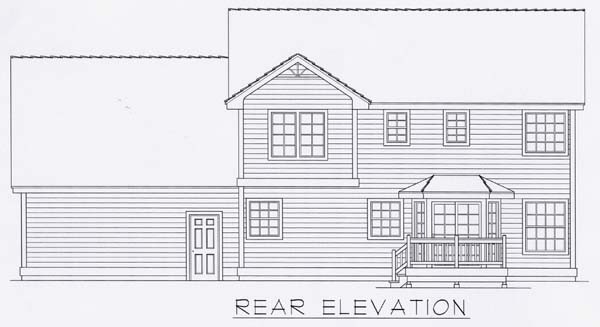 Victorian House Plan 63517 with 3 Beds, 3 Baths, 2 Car Garage Rear Elevation