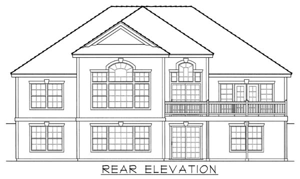 Victorian House Plan 63521 Rear Elevation