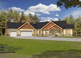 Craftsman Ranch House Plan 63528 Elevation