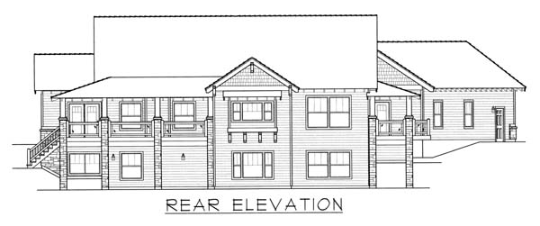 Craftsman Ranch House Plan 63528 Rear Elevation