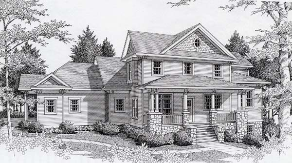 Country , Modern Farmhouse House Plan 63531 with 4 Beds, 4 Baths, 3 Car Garage Elevation