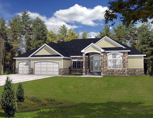 Contemporary House Plan 63540 Elevation