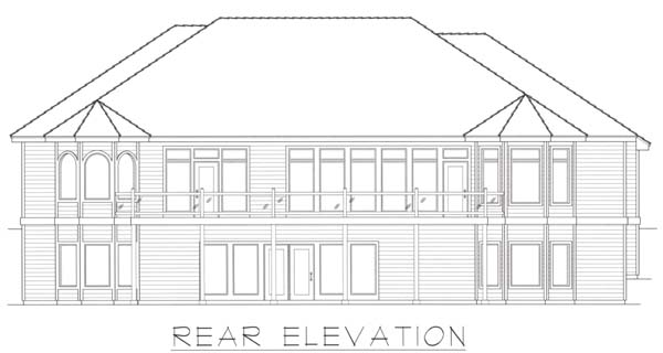 Contemporary House Plan 63540 Rear Elevation