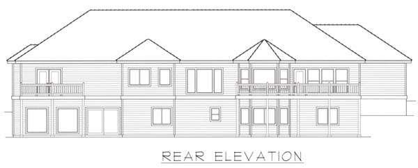 Contemporary House Plan 63541 Rear Elevation
