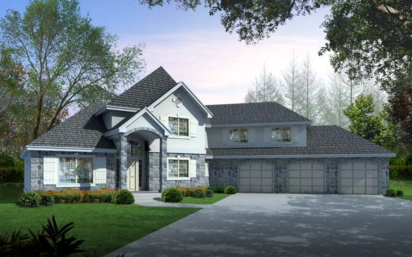 Country European House Plan 63546 Elevation