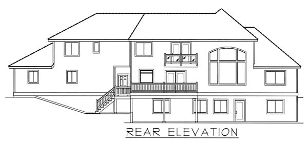 Country European House Plan 63546 Rear Elevation