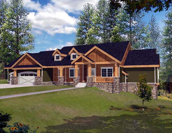 Ranch House Plan 63547 Elevation