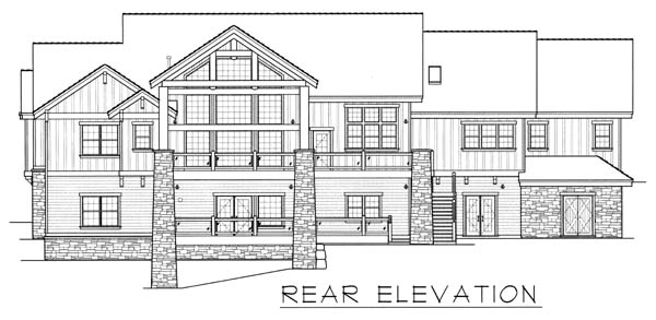 Ranch House Plan 63547 Rear Elevation