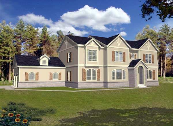 Tudor House Plan 63549 with 3 Beds, 3 Baths, 2 Car Garage Elevation