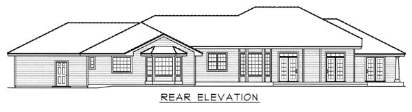 Southern House Plan 63550 Rear Elevation