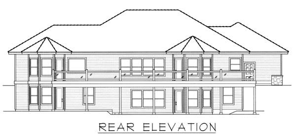 Contemporary Ranch House Plan 63551 Rear Elevation