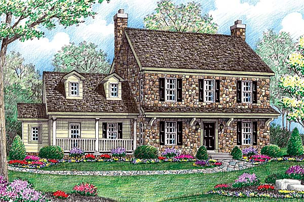 House Plan 64403 | Farmhouse Style Plan with 2488 Sq Ft, 4 Bedrooms, 3 Bathrooms, 2 Car Garage Elevation