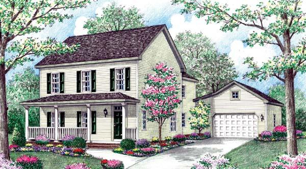 Farmhouse House Plan 64406 Elevation