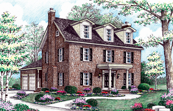Farmhouse House Plan 64407 Elevation