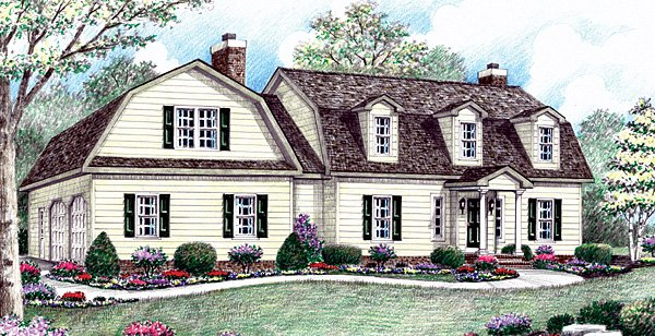 Colonial European House Plan 64408 Elevation