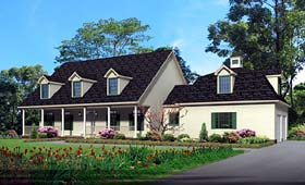 House Plan 64411 | Cape Cod Style Plan with 3308 Sq Ft, 4 Bedrooms, 4 Bathrooms, 2 Car Garage Elevation