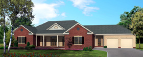 House Plan 64412   Ranch Style Plan with 3338 Sq Ft, 4 Bedrooms, 3 Bathrooms, 2 Car Garage Elevation