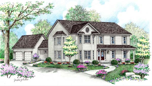 Farmhouse Victorian House Plan 64417 Elevation