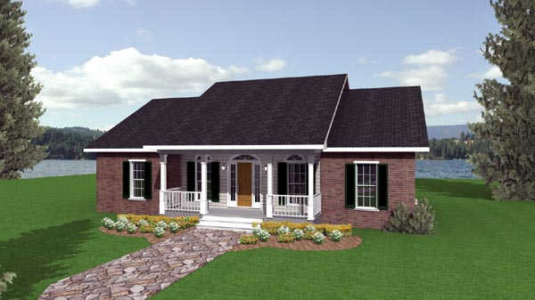 Country, One-Story, Southern House Plan 64504 with 3 Beds, 2 Baths, 2 Car Garage Elevation