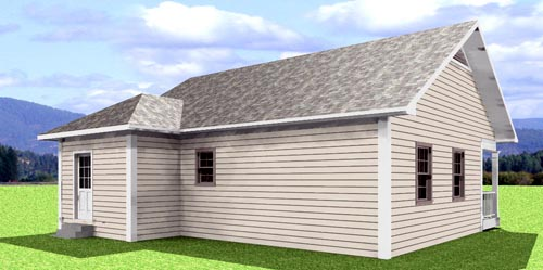 Cabin, Country House Plan 64505 with 2 Beds, 1 Baths Picture 1