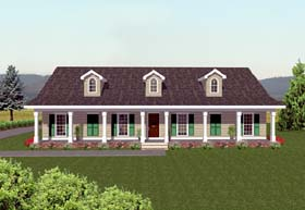 Country Southern House Plan 64506 Elevation