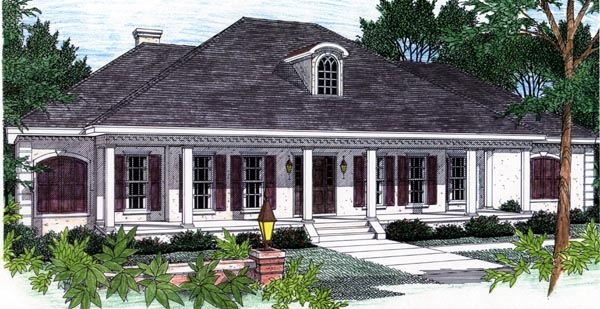 Southern House Plan 64508 Elevation