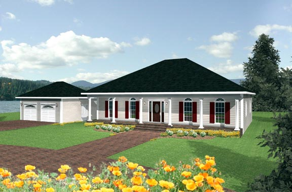 Southern House Plan 64509 Elevation