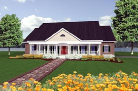 Colonial Country House Plan 64510 Elevation