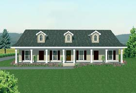 Country House Plan 64513 with 3 Beds, 3 Baths, 2 Car Garage Elevation